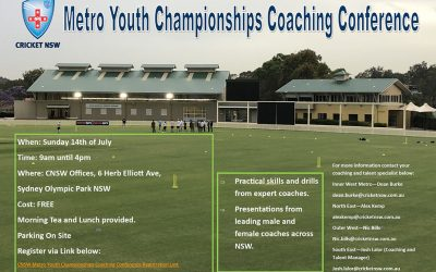 Metropolitan Youth Championships Coaching Conference