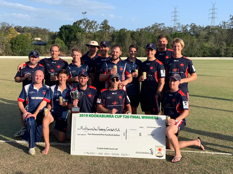 Mudgeeraba Nerang & Districts Cricket Club T20 winners 2019